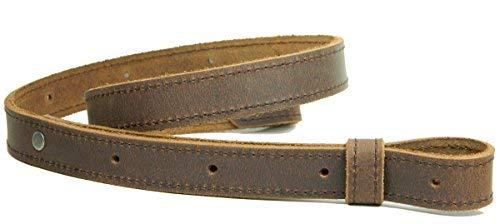 Herte Rifle Leather Sling 1 inch Wide Vintage Brown Crazy Horse Stitched Adjustable Length
