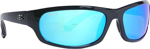 Calcutta Polarized Sunglasses Steelhead 2 SH2BM Black Frame Blue Mirror Lens