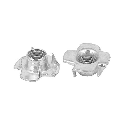 M8 4 Prong Blind Tee T Nuts Bra Silver Tone 30PCS