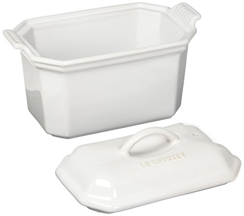 Le Creuset Heritage Stoneware 3/4-Quart Pate Terrine with Press, White by Le Creuset (Image #1)