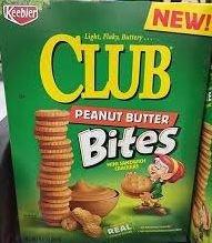 Keebler Club Real Peanut Butter Sandwich Bites Crackers 8.8oz ( 2 Pack) by Keebler
