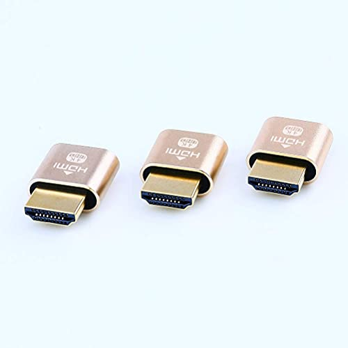 DTECH HDMI Dummy Plug 4K Display Emulator Compatible with Windows Mac OSX Linux (fit-Headless, 3 Pack)