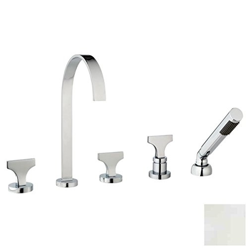 MCN SP-105-S4-PN Spring Polished Nickel 5-Hole Roman Tub Set ()