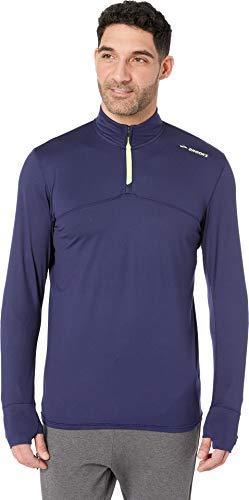 Brooks Men's Dash 1/2 Zip Navy/Nightlife Medium (Brooks Running Shirts)