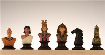 CHH Egyptian Themed Metal Chess Piece Set
