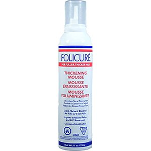 Folicure Mousse 8oz Thickening For Fuller Thicker Hair (3 Pack) by Folicure (Image #1)
