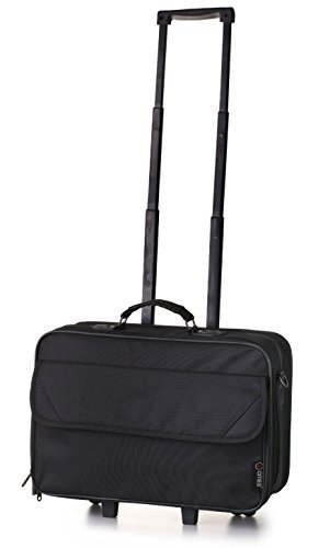 5 Cities Carry-on Laptop Black Business Bag - Lightweight Executive Hand Luggage Trolley Case (Executive Cabin Trolley Bag)