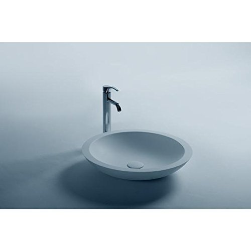 ID Trend Round 20 in. Solid Surface Vessel Sink Bowl Above Counter Sink Lavatory by ID Bath Collection