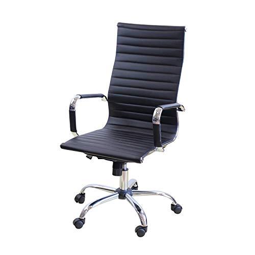 IDS Online MLM-18587 Folding Series Ergonomic Foldable Swivel Office Chair with Chrome Leg, Black