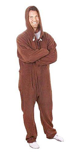 Forever Lazy Adult Onesie - Lay Down Brown - XXS ()