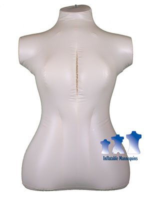 Inflatable Mannequin, Female Torso, Plus Size Ivory