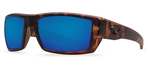 Costa Del Mar Rafael Sunglasses, Matte Retro Tortoise, Blue Mirror - Costa Rafael