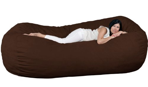 FUGU Bean Bag Chair, Premium Foam Filled 8 XL, Protective Liner Plus Removable Machine Wash Chocolate Brown Cover