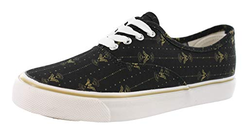 DC Comics Wonder Woman Toss Print Limited Edition Vulcanized Shoes (8.5 US) Black