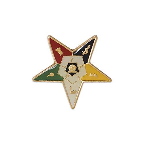 Order of The Eastern Star Masonic Lapel Pin - 1