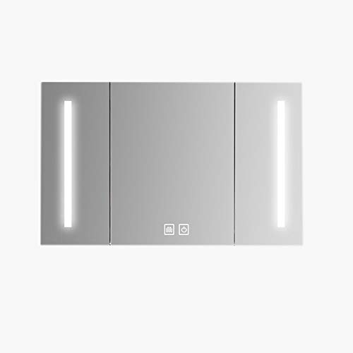 RKRZLB Bathroom Mirror Cabinet/Bathroom Cabinet/with Built-in Bluetooth Speaker Dimming Function Demister Pad -