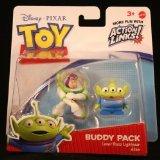 (LASER BUZZ LIGHTYEAR & ALIEN Toy Story 3 Buddy Pack DISNEY / PIXAR Mini Figures * 2 Pack)
