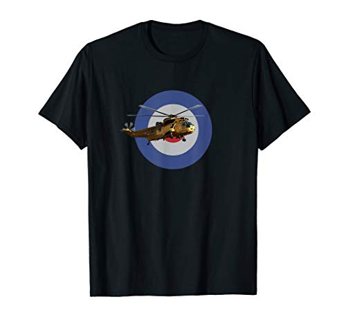 Raf Sea King Helicopter - RAF WS-61 Pilot Sea King Helicopter Roundel T shirt