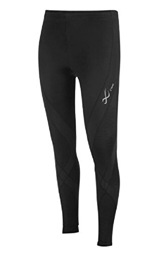 CW-X 140809 Nylon and Lycra Pro Tights, Women's Medium (Black)