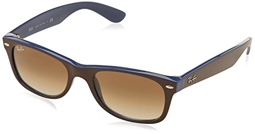 Ray-Ban NEW WAYFARER - TOP BROWN ON BLUE Frame CRYSTAL BROWN GRADIENT Lenses 52mm - Wayfarer 2132