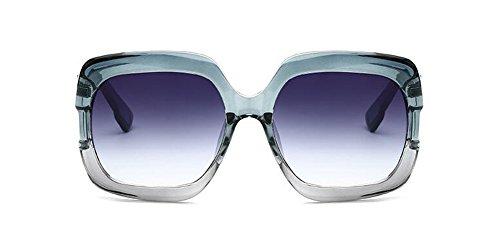 Boîte cercle du métallique vintage Bleue soleil rond Lennon Bleue lunettes Progressive retro de en inspirées polarisées style w4vn1qOIP