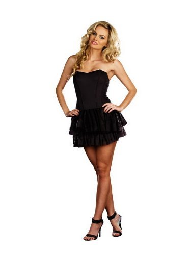 Dreamgirl Reversible Corset - Dreamgirl 7798 Reversible Corset (Black/White;Large)