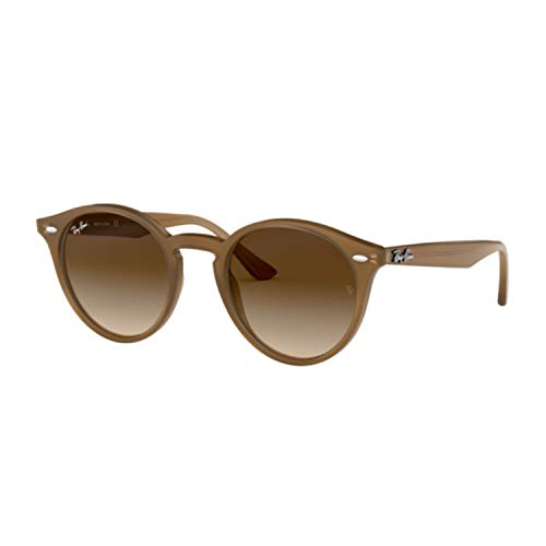 Ray-Ban Women's Highstreet Round Sunglasses, Dove Grey/Brown Gradient, One ()