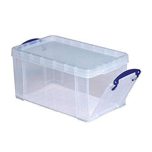 Really Useful Box Plastic Storage Box, 8 Liters, 13 1/4