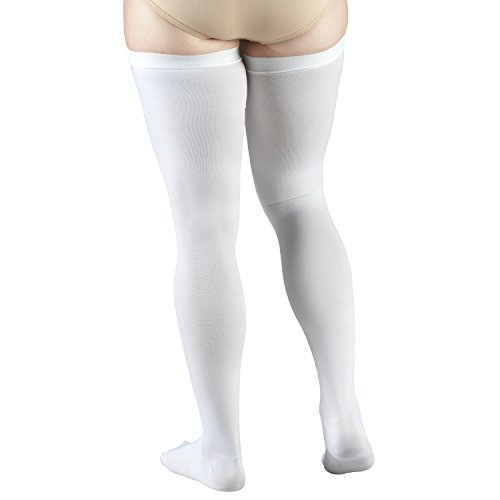 Truform Closed Toe, Thigh High 18 mmHg Anti-Embolism Stockings, White, X-Large by Truform (Image #6)