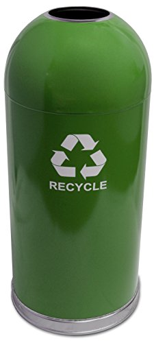 Witt Industries 415DTGN-R Indoor Recycling Container, Green (Indoor Recycling Containers)