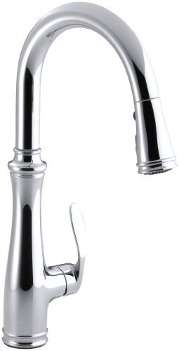 Kohler K-560-CP Bellera Pull-Down Kitchen Faucet, Chrome (560 Single)