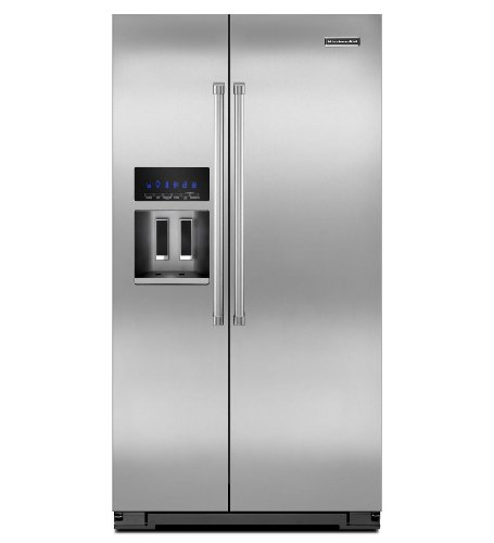 Kitchenaid KSC24C8EYP 35 1/2-Inch, 24 Cu. Ft. Counter-Depth Side-by-Side Refrigerator ()