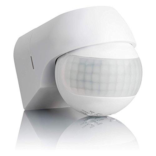 SEBSON® Bewegungsmelder Aussen IP44, Aufputz, Wand Montage, programmierbar, Infrarot Sensor, Reichweite 12m / 180°, LED…