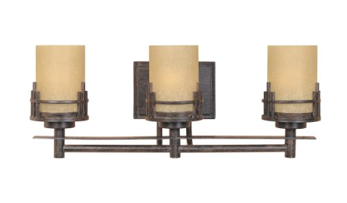 Designers Fountain 82103-WM Mission Ridge 3 Light Bath Bar - Mission Bath Light