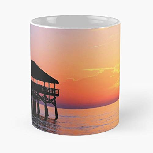 (Cocoa Beach Pier Sunrise Over Sun - Coffee Mug And Tea Cup Gift 11 Oz Best Mugs For Choose)