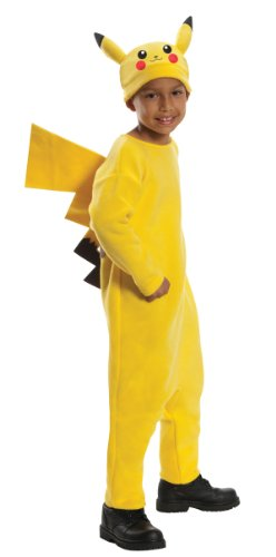 Pokemon Child's Deluxe Pikachu Costume - One Color - Medium (Best Costumes Halloween Ever)
