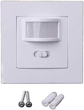 Interruptor de movimiento, luz con sensor de movimiento, 110 V, 240 V, interruptor cuadrado de inteligencia,