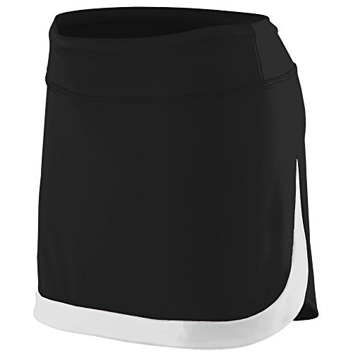 Augusta Sportswear Girls' Action Color Block Skort L Black/White
