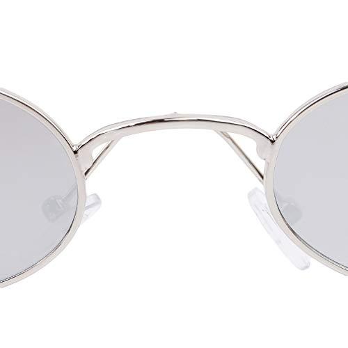 Lunettes As Silver Gold Style Frame Lunettes Red Silver de Water métal Cadre Eyewear Objectif Soleil en pâle Description Soleil teinté de Rond Yamiji Lennon Frame xnB7Ha1wEa