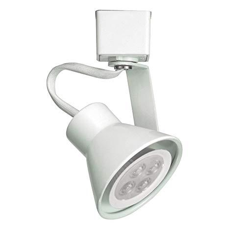 WAC Lighting HTK-103LED-WT H Series Line Voltage Track Head with LED Gu10 Bulb