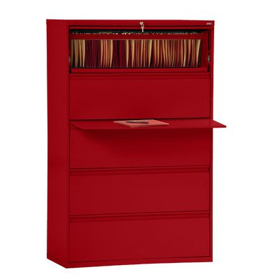(Sandusky Lee LF8F425-01 800 Series 5 Drawer Lateral File Cabinet, 19.25