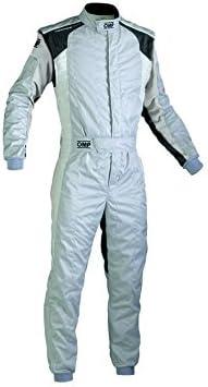 OMP IA0184408962 Tecnica Evo Racing Suit, Gray//Black, Size 62