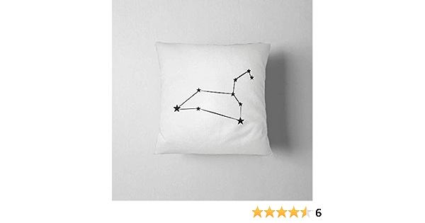 Zodiac Sign Astrology Decoration Celestial Constellation Leo Pillow Case Galaxy Home Decor Horoscope Gift Star Sign