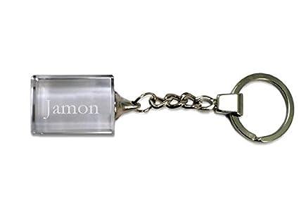 Shopzeus Llavero de Cristal con Nombre Grabado: Jamon ...