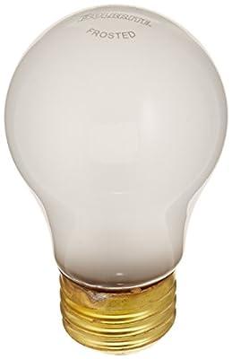 Bulbrite 15A15F/12 15-Watt A15 Frost 12 Volt Incandescent Bulbs, 2-Pack