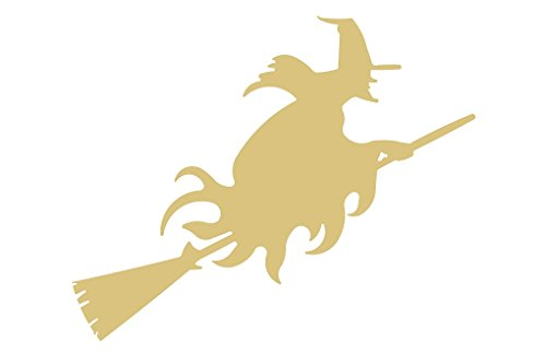 Witch Cutout Unfinished Wood Halloween Wicca Spooky Scary