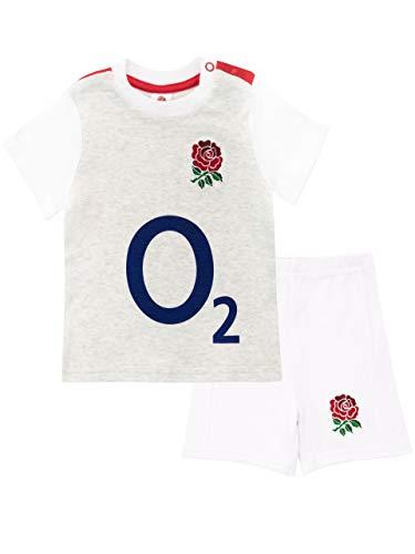 England Rugby Baby Boys' RFU Pajamas Size 6-9M Gray