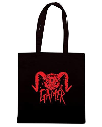 Shopper DICE 2013 18 Borsa 04 Nera GAMER FUN0087 DEMON dqwx4Za