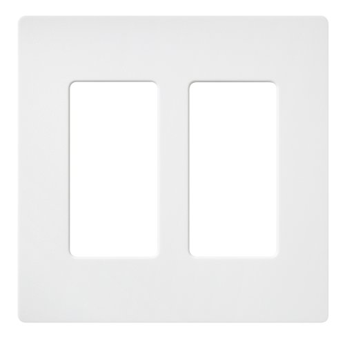 Lutron SC-2-SW Claro Two-gang Wallplate Snow