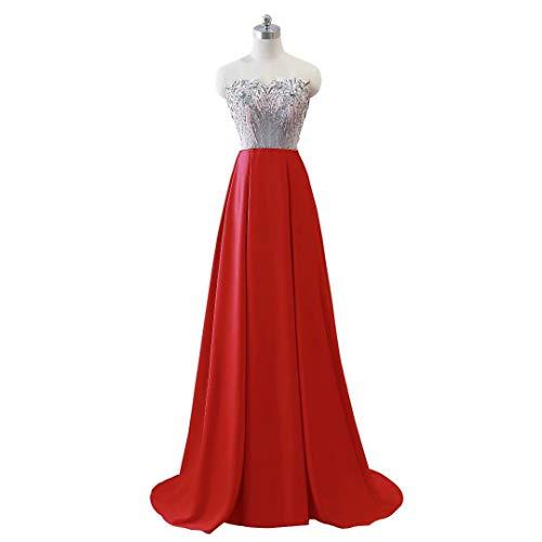 Ausschnitt Mermaid Frauen Party Rot Kleider Doppel Lange Formale Abendkleid V qOvaYd